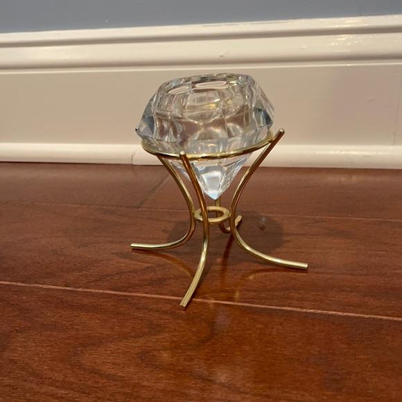 Partylite tea light diamond candle holder